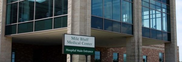 Exterior of Mile Bluff Medical Center